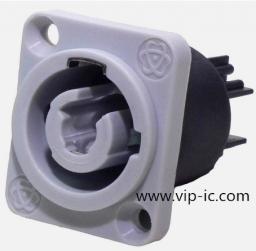 Разъем питания Силовые разъемы SVP593MB-GY,2+1,20A,на кабель,Вход,Мужские С изоляционным материалом