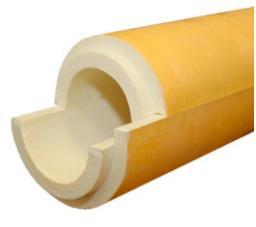 Скорлупа ППУ с покрытием стеклопластик от производителя