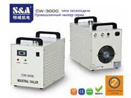Деревообрабатывающий центр с ЧПУ охлаждается малогабаритным чиллером CW-3000.