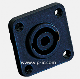 Разъем Динамика(SpeakerConnector)SVP563-M,4P Разъем,25A,4P MALE PANELMOUNT SPEAKER CONNECTOR W/METAL FLANGE