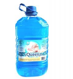 Жидкое мыло Queen (5 литров) в канистрах ПЭТ (5л), Морской бриз.