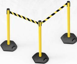 Индустриальная стойка с лентой 3.0 - 3.65 метра.Barrier Belt Industrial Серия OUT в Москве