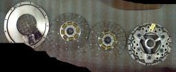 Комплект сцепления 118-0186 (старого образца с лапками) 2-дисковое дв. САТ-3116 КПП ZF