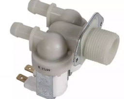 Электроклапан 2Wx180 для Индезит, Аристон. Двойной прямой вых 10мм.