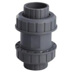 Клапан обратный пружинный 50мм 2-муфтовый
