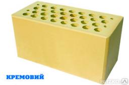Кирпич керамический лицевой М200 кремовый