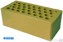 Кирпич керамический пустотелый М 20 желтый