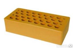 Кирпич керамический рядовой пустотелый М150 персик