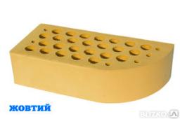 Кирпич керамический фигурный вишневый ЦФ-3 М150