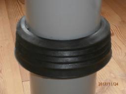Манжета стенового ввода для ПЭ труб Д160.