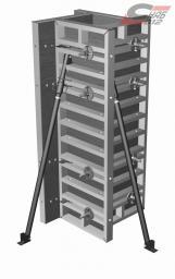 Опалубка колонн на универсальны щитах 0,75*3,0 м (сечение колонны от 20 до 60 см) в аренду