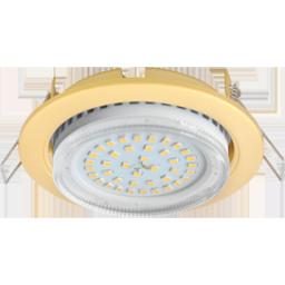 Светильник встраиваемый Ecola GX53, 38х106мм, сатин (матовое) золото