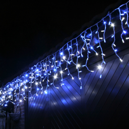 Уличная гирлянда бахрома 3*0,5м синяя IP65