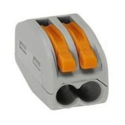 Клеммная колодка с рычагом IEK СМК 222-412 2х(0,08-2,5мм2) тип WAGO UKZ-001-412