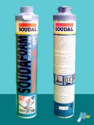 Зимняя монтажная пена Professional 60 -10С Click&Fix под байонетный пистолет SOUDAL