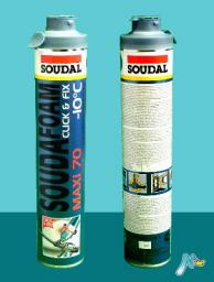 Зимняя монтажная пена MAXI 70 -10C Click&Fix под байонетный пистолет SOUDAL