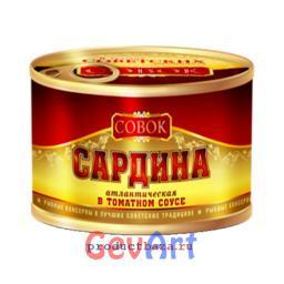 Сардина в томатном соусе СОВОК, 250 г