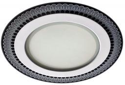 Панель светодиодная круглая ЭРА 12Вт 700ЛМ 4000К (размер отверстия 160х35мм) Стекло с рисунком IP20