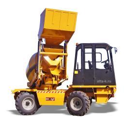 Автобетоносмеситель с самозагрузкой - мобильный бетонозавод 10 кубм/час шасси 4х4 с крабовым ходом - MACMIX 3500