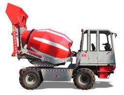 Автобетоносмеситель с самозагрузкой - мобильный бетонозавод 16 кубм/час шасси 4х4 с крабовым ходом - MACMIX MEV5000