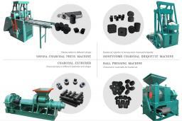 Гидравлический экструдер для брикетирования древесного угля Уголь для производства древесного угля
