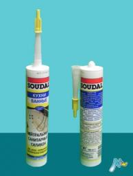 Санитарный нейтральный герметик Neutral Sanitary Silicone 310 мл SOUDAL БЕЛЫЙ