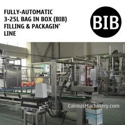 Полностью автоматическая Линия розлива и фасовки 3-25 л Bag-in-Box (BIB)
