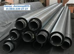 Трубы стальные в теплоизоляции ППУ, в оцинкованной оболочке