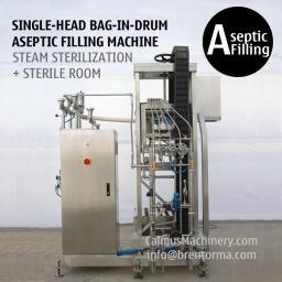 Одиночная головка машину асептического розлива в 200 л мешки с носик Bag-in-Drum (BID)