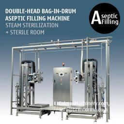 Двойные головки оборудование для асептического розлива в 220 кг мешки с носик Bag-in-Drum (BID)