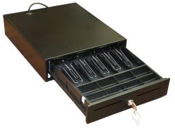 Денежный ящик МИДЛ большой серый / черный механический
