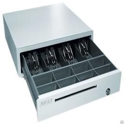 Денежный ящик МИДЛ малый серый/черный электро-механический