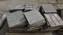 Плитка чугунная напольная (б/у) для промышленных помещений, 18,72 тонны