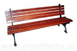 Скамейка чугунная садовая 500