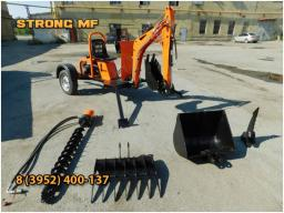 Прицепной универсальный мини экскаватор STRONG M 1000
