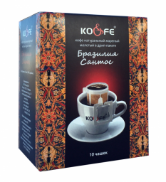 Дрип-кофе Бразилия Сантос 1х10 шт