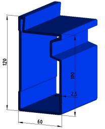 Стеновая опалубка-Щиты линейные стальные 1.00 х 3.0 м