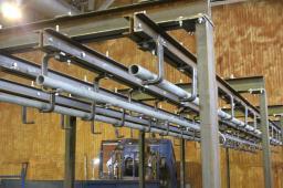 Комплект подвесных трубчатых путей в рефконтейнер