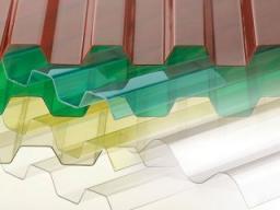 Профилированный монолитный поликарбонат (трапеция), толщина 1,3 мм