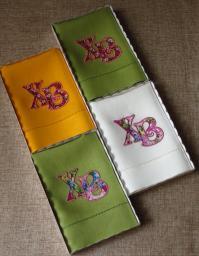 Льняное полотенце 45х80 аппликация