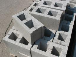 Строительный блок пустотелый перегородочный 400х200х100