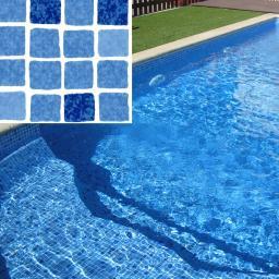 Пленка мозаика для бассейна (Mosaic blue) SGBD-160 Elbtal-plastics