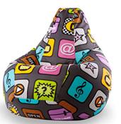Бинбэг Плей (кресло-мешок) XL Жаккард - Категория 1 + внутренний чехол.
