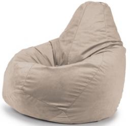 Кремовый бинбэг (кресло-мешок) XL Велюр + внутренний чехол.
