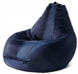 Тёмно-синий бинбэг (кресло-мешок) XL Оксфорд + внутренний чехол.