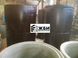 Колодец КЦДГ 10-8ч (с гидроизоляцией) Кольцо бетонное с дном