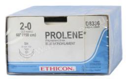 W8977 12 ПРОЛЕН 2/0, 90 см, синий Кол.-реж. 26 мм х 2, 1/2