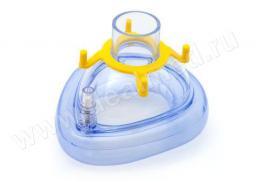 Маска AERObag анестезиологическая, ПВХ, одноразовая, размер 2 (детская средняя) (Арт. HBM06-2V), Германия