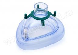 Маска AERObag анестезиологическая, ПВХ, одноразовая, размер 3 (взрослая малая / большая детская) (Арт. HBM06-3V), Германия
