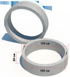 Кольцо стеновое смотровых колодцев КС 10-3